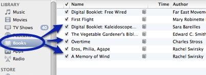 iBooks window