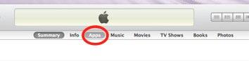 iTunes App tab