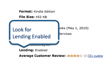 Lending Enabled Kindle