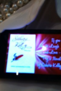Sahara Kelly's LCD nametag