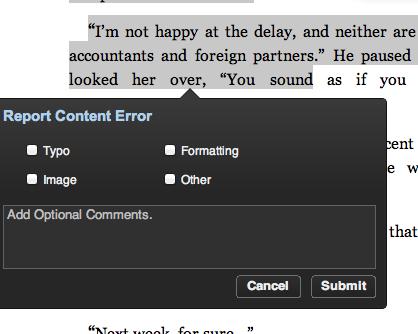 Report Content Error