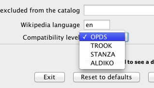 Select OPDS as compatibility level