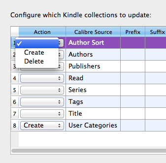 Using Kindle Collections Plugin for Calibre