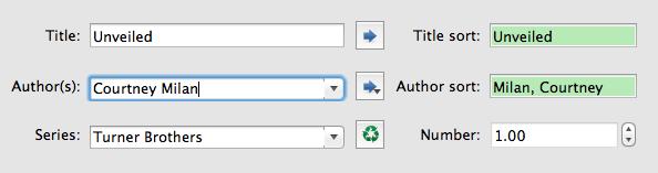metadata example of author title series