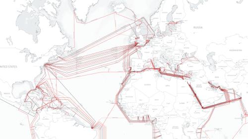 Fiber cable map