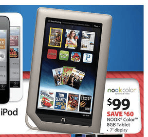 Nook color at Walmart