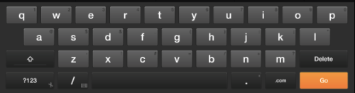 Kindle Fire HD keyboard