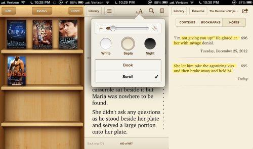 Screenshots from iBooks App