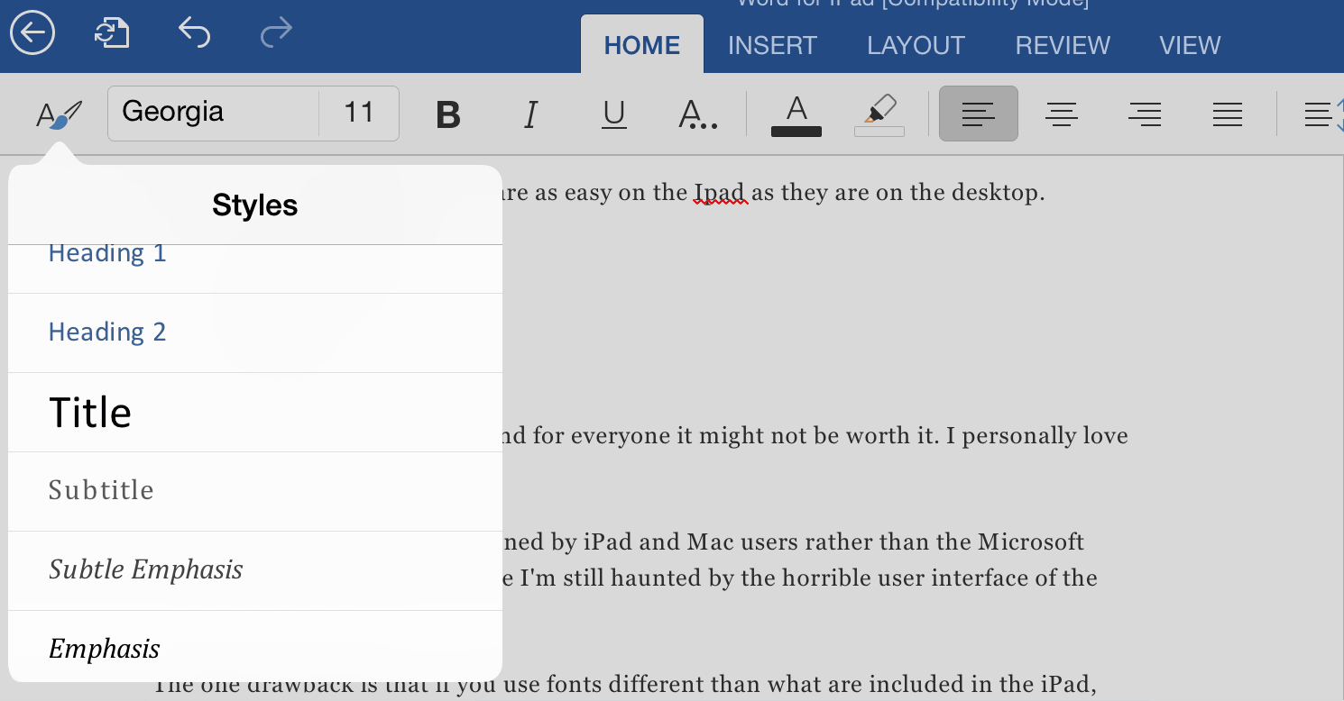 Word for iPad (or the app I've been waiting my whole iPad