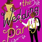 Pink/purple cover with sparkly curly titles, a Black woman in a gold dress in the top left and a Black man in a suit with the jacket slung over one shoulder in the lower right. The people are cartoon type drawings.