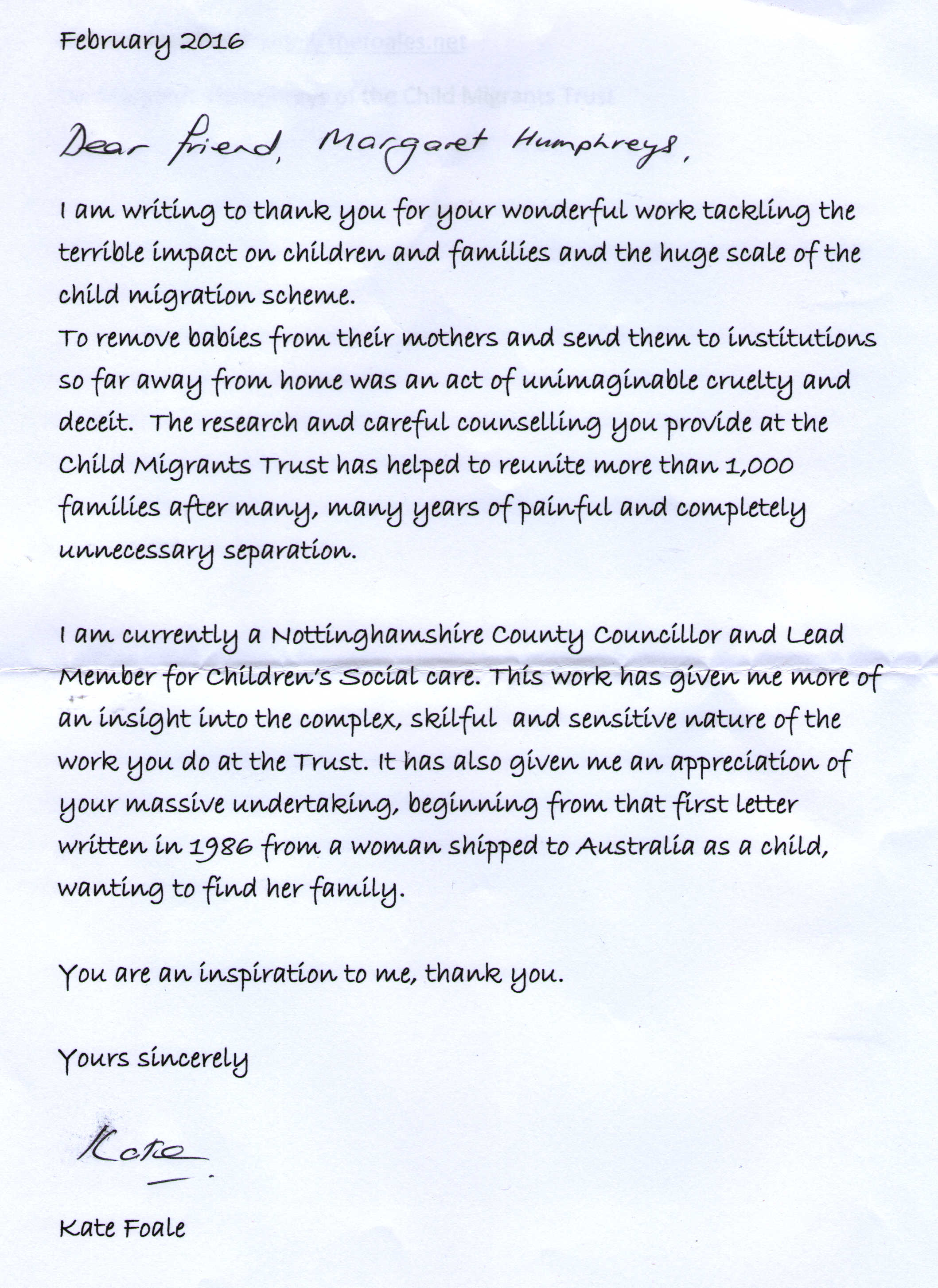 Scan Of The Letter