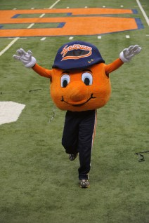 college mascot, otto-the-orange-syracuse-university-mascot