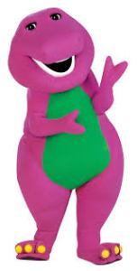 Barney is the college mascot of polite behavior.