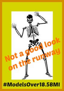 skeletons on the runway not healthy BMI over 18.5