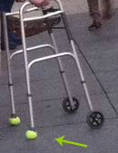 walker tennis balls