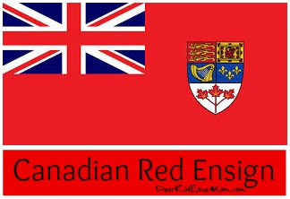 Canadian Red Ensign Flag DearKidLoveMom.com
