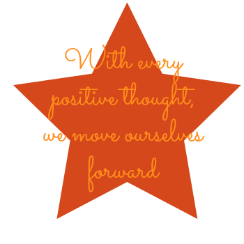 With every positive thought, we move ourselves forward. DearKidLoveMom.com