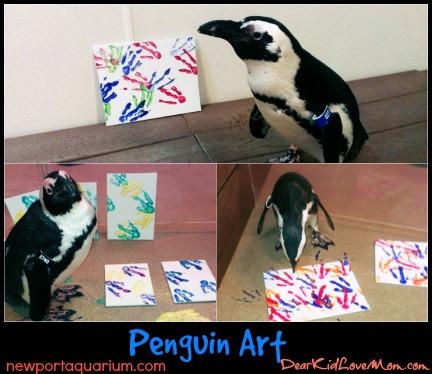 Peguins in their Matisse phase. DearKidLoveMom.com