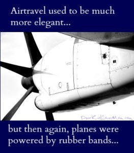 Airtravel used to be much more elegant... DearKidLoveMom.com