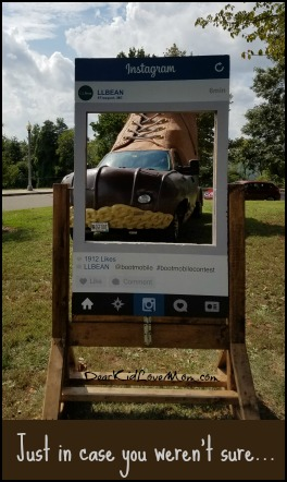 LL Bean bootmobile! Get ready for social media. DearKidLoveMom.com