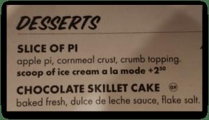 Pi Pizza Dessert Menu. DearKidLoveMom.com