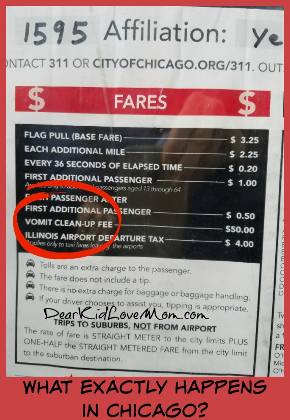 What exactly goes on in Chicago? Taxi prices Chi-town. DearKidLoveMom.com