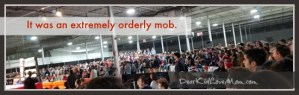 It was an extremely orderly mob. IU Boxing. DearKidLoveMom.com
