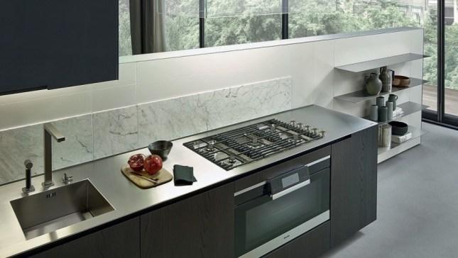 top cucina in acciaio inox