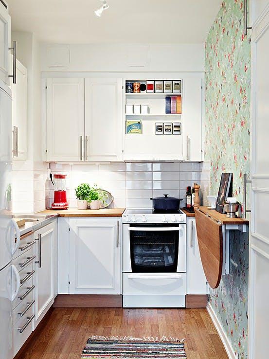 7 trucchi salva-spazio per cucine piccole