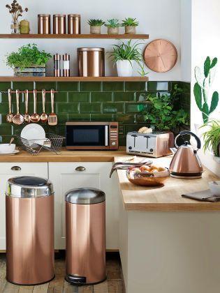 Fai brillare la tua cucina con la lista nozze dedicata al color rame