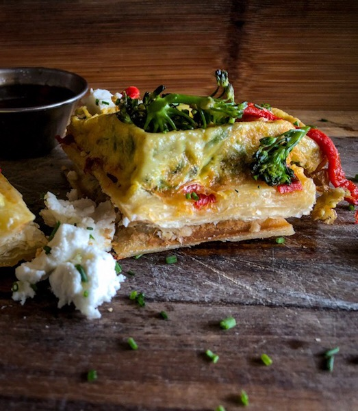"A frittata recipe like you've never seen. We call it a ""Crofrittafle"""