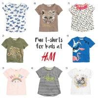 Fun t-shirts from H&M Kids