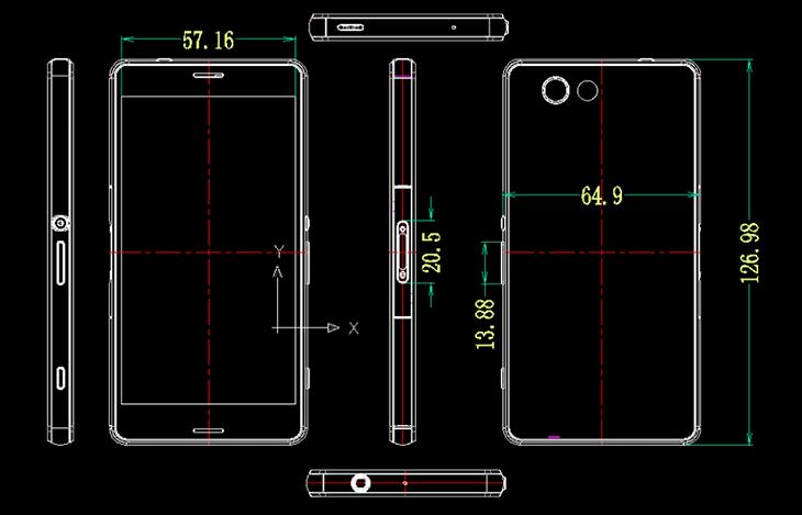 Dimensiones Xperia Z3 Compact