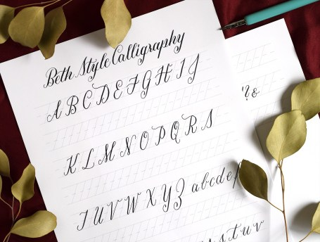 Free Basic Calligraphy Worksheet by The Postman's Knock