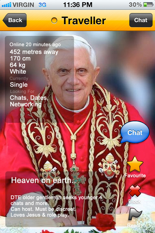 The Pope Grindr