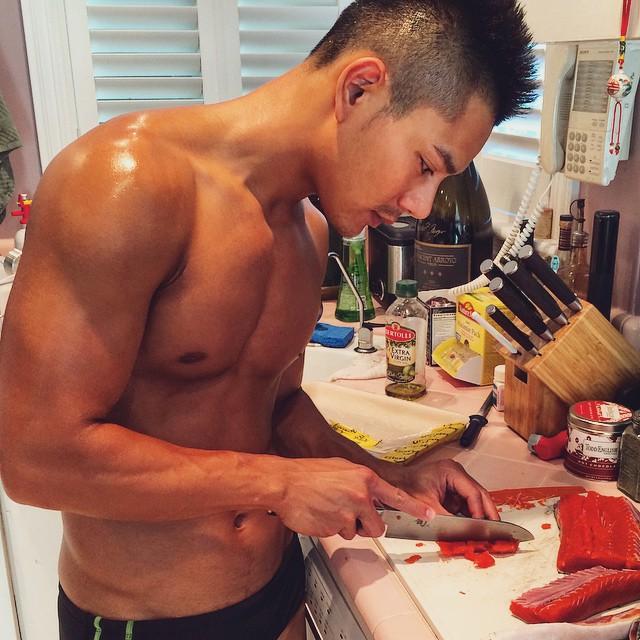 Josh Chang cooking