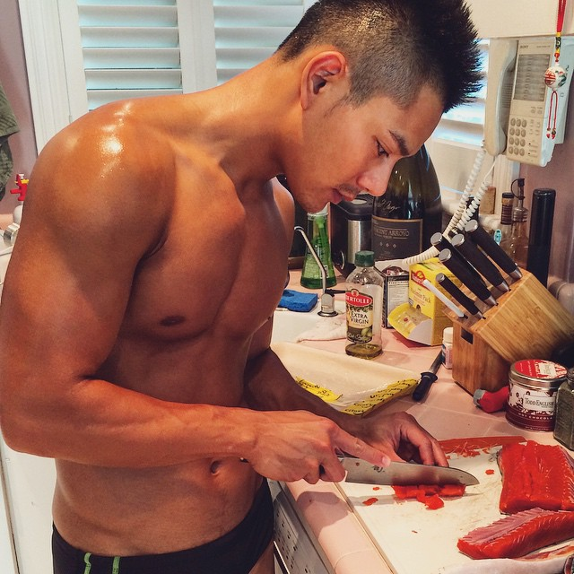 Josh Chang cooking