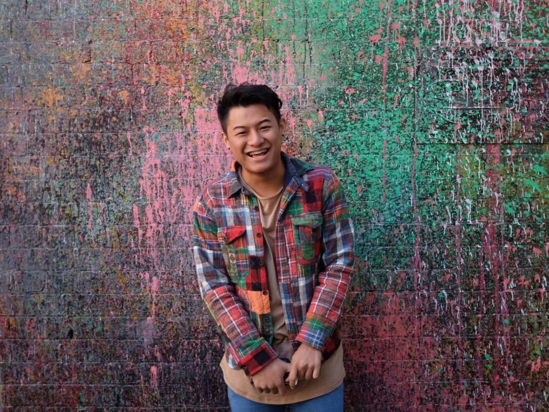 Lewis Loh rainbow backdrop