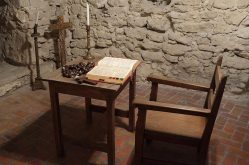 A monk's study area in the museum