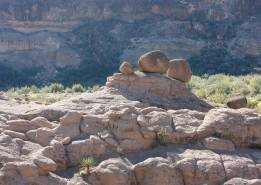 Boulders left after Hoodoo collapse