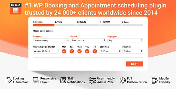 Bookly PRO- Appointment Booking and Scheduling