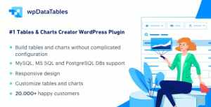 wpData Tables – Table and Chart Manager