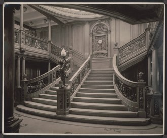 Olympic grand staircase photo, Titanic would be identical