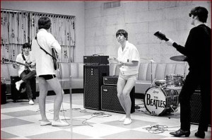 The Beatles continue rehearsals at the Deauville Hotel on Miami Beach in preparation for their second live appearance on The Ed Sullivan Show in 1964.