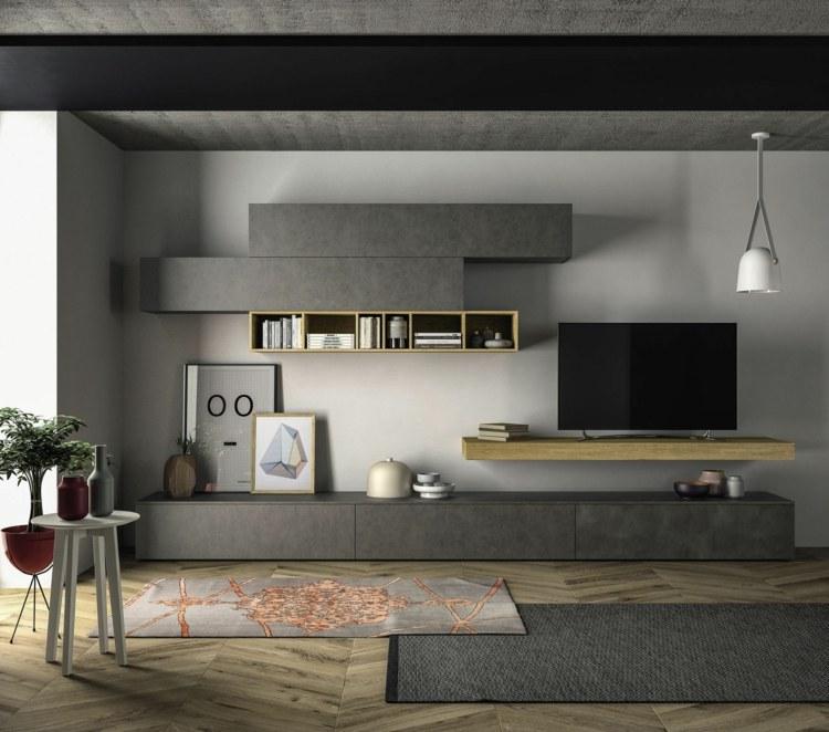 die moderne wohnwand im wohnzimmer exklusive ideen von dall agnese