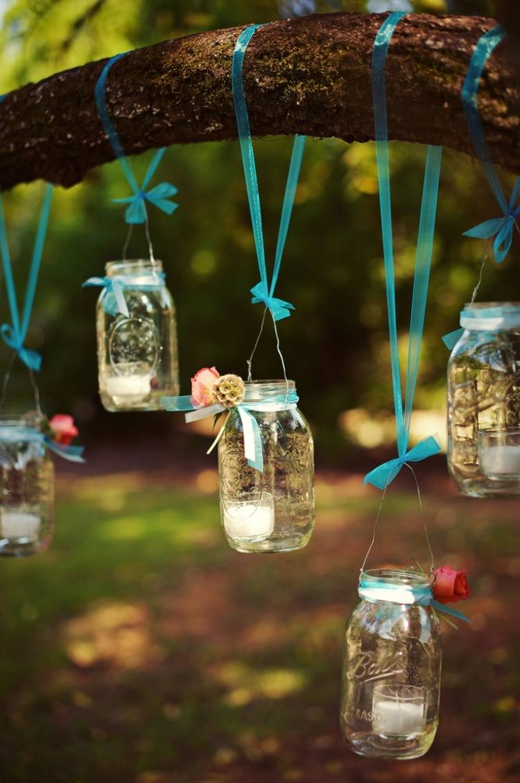 Windlicht im Garten - 45 kreative Bastelideen für Gartendeko