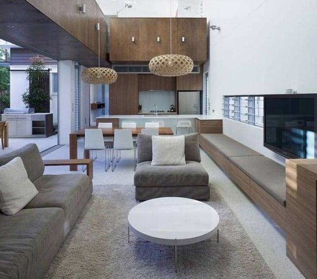 Wohnzimmer und Küche in einem Raum - Gestaltungsideen