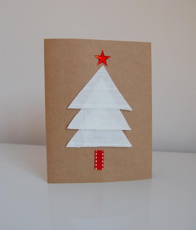 Weihnachtskarten Basteln Ideen Mit Glitzernden