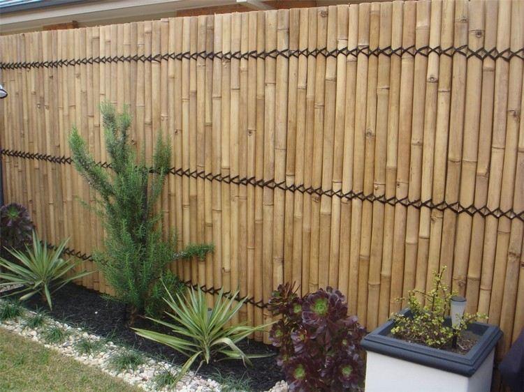34 ideen fur sichtschutz im garten mit dekorativem zaun aus bambus