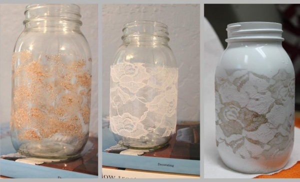 Eine hübsche Vase als Deko aus alten Gegenständen